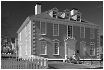 Wentworth-Gardner House 1760 in Georgian style. Portsmouth, New Hampshire, USA (black and white)