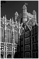 Shepard Hall tower, CUNY. NYC, New York, USA ( black and white)