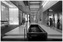 Inside Bloomberg Tower. NYC, New York, USA (black and white)