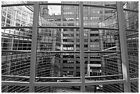 Bloomberg Building, designed by Cesar Pelli and Associates. NYC, New York, USA (black and white)