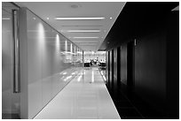 Corridor, Bloomberg Tower. NYC, New York, USA (black and white)