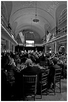 NPCA gala inside Immigration Museum, Ellis Island. NYC, New York, USA ( black and white)