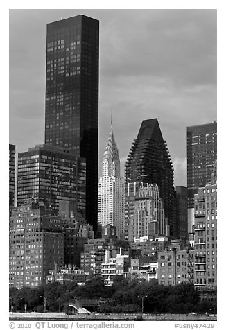 Trump World Tower and Chrysler Building. NYC, New York, USA