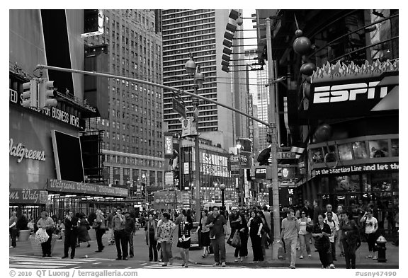 Times Squares area. NYC, New York, USA