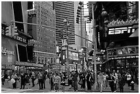 Times Squares area. NYC, New York, USA (black and white)