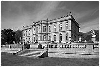The Elms, mansion in classical revival style. Newport, Rhode Island, USA (black and white)