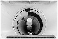 Intercontinental nuclear missile silo. Minuteman Missile National Historical Site, South Dakota, USA ( black and white)