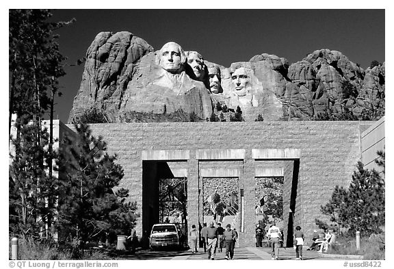 Entrance of Alley of the Flags,  Mount Rushmore National Memorial. South Dakota, USA