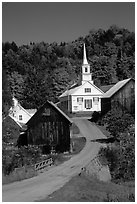 Waits River church. Vermont, New England, USA (black and white)