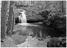 Cascade over rock, Amnicon Falls State Park. Wisconsin, USA (black and white)