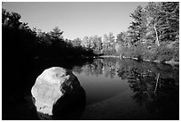 Pond. Wisconsin, USA (black and white)
