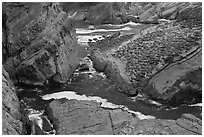Cliffs and slabs, Shore Acres. Oregon, USA ( black and white)