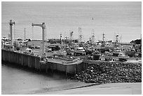 Pier, Port Orford. Oregon, USA ( black and white)