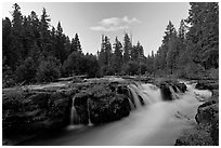 Cascades of the Rogue River. Oregon, USA (black and white)