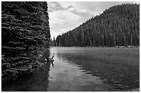 Devils Lake, Deschutes National Forest. Oregon, USA ( black and white)