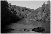 Boulders, McKenzie river, Ben and Kay Doris Park. Oregon, USA ( black and white)