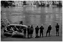 Rafting instruction, Ben and Kay Doris Park. Oregon, USA ( black and white)