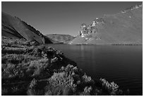 Lake Owyhee at Leslie Gulch. Oregon, USA ( black and white)