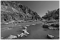Riverside hot springs. Oregon, USA (black and white)