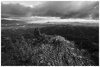 Evening storm clouds, Hobbart Point. Cascade Siskiyou National Monument, Oregon, USA ( black and white)