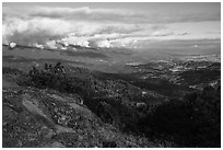 View from Hobart Bluff. Cascade Siskiyou National Monument, Oregon, USA ( black and white)