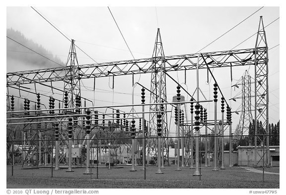Transmission substation, Newhalem. Washington