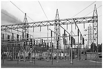 Transmission substation, Newhalem. Washington ( black and white)