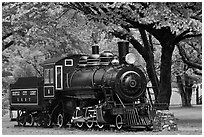 Seattle City Light locomotive, Newhalem. Washington ( black and white)