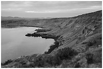 White Cliffs, Hanford Reach National Monument. Washington ( black and white)