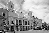 Town Hall. San Juan, Puerto Rico (black and white)