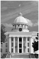 State Capitol built in 1851. Montgomery, Alabama, USA ( black and white)