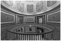 Rotonda below the dome with paintings of historical events. Montgomery, Alabama, USA ( black and white)
