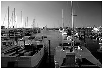 Harbor at sunset. Key West, Florida, USA ( black and white)