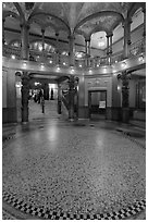 Foyer, Flagler College. St Augustine, Florida, USA ( black and white)
