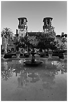 City Hall and Lightner Museum. St Augustine, Florida, USA (black and white)