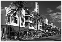 Art Deco District, Miami Beach. Florida, USA (black and white)