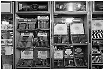 Cuban cigars for sale, Mallory Square. Key West, Florida, USA ( black and white)