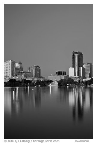 Night skyline. Orlando, Florida, USA