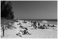 Captiva Beach, Captiva Island. Florida, USA ( black and white)