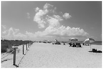 Bowman Beach, Sanibel Island. Florida, USA ( black and white)