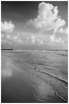 Clouds and reflections, Fort De Soto beach. Florida, USA ( black and white)