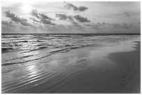 Late afternoon, Fort De Soto beach. Florida, USA ( black and white)