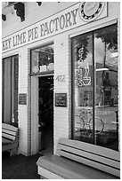 Key Line Pie Factory facade. Key West, Florida, USA ( black and white)