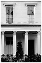 Facade in Southern style, Garden Distric. New Orleans, Louisiana, USA ( black and white)