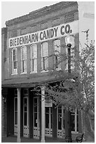 Biedenharn Candy building, where Coca-Cola was first bottled. Vicksburg, Mississippi, USA ( black and white)