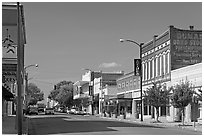 Commercial street. Natchez, Mississippi, USA (black and white)