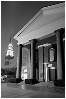 First Baptist Church, where the Ordinances of Secession were drawn. Columbia, South Carolina, USA ( black and white)