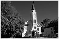 Tabernacle Baptist Church. Beaufort, South Carolina, USA ( black and white)