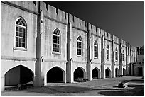 Beaufort Arsenal museum. Beaufort, South Carolina, USA ( black and white)