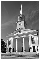 Baptist Church. Beaufort, South Carolina, USA ( black and white)